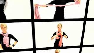 21 способ завязать платок и палантин на шее. Часть 2