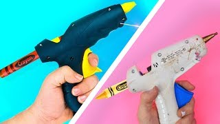 TRYING 15 COLORFUL CRAYON IDEAS AND LIFE HACKS BY 5 Minute Crafts