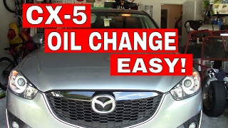 2014 MAZDA CX5--How to do an OIL CHANGE Step by Step--Tutorial
