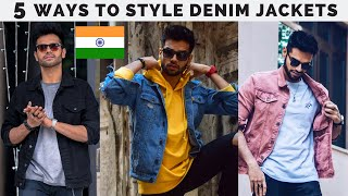 How To Style A Denim Jacket Men | Style Tips By San Kalra Hindi