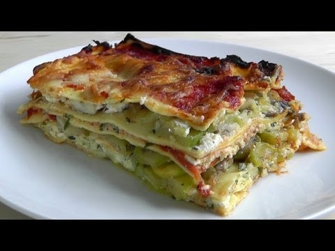 Vegetarian Lasagna How to Make recipe with easy béchamel sauce