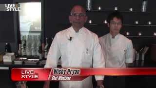 Gamberi e melenzane. Chef Wicky Priyan