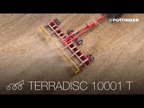 The new disc harrow Poettinger Terradisc 10001T