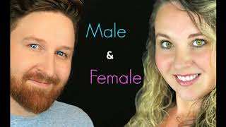 I will record an american male and female voice over
