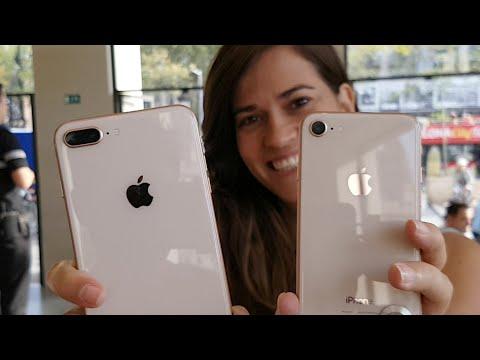 Probando el iPhone 8 y 8 Plus!!