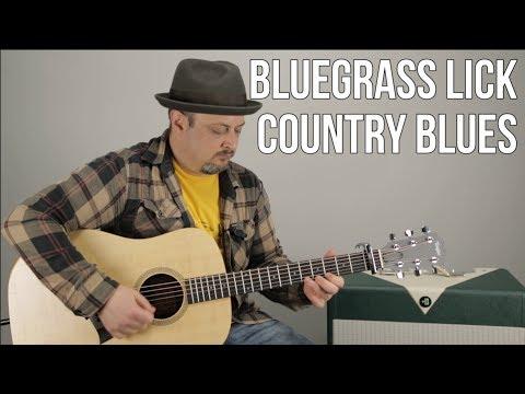 Bluegrass Guitar Licks - Country Blues Guitar Lesson