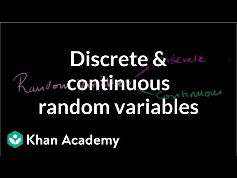 RANDOM VARIABLE CONTINUOUS