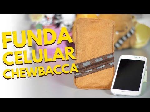 790e2aedb59 Fundas personalizadas CHEWBACCA / Accesorios para celulares (Manualidades  con fieltro)