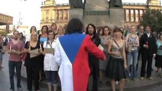 Na Václavském náměstí se zpívalo