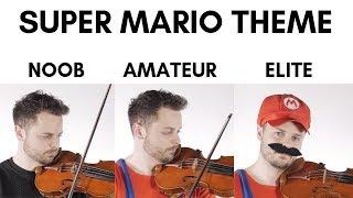 4 Levels Of Mario Music: Noob to Elite