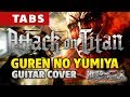Attack on Titan OP1 - Guren no Yumiya (Fingerstyle guitar cover by Kaminari)