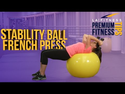 Exercise Ball French Press