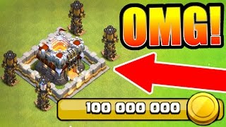 Clash Of Clans  WORLD RECORD 100 MILLION GOLD SPENT ON NEW UPDATE UPGRADES