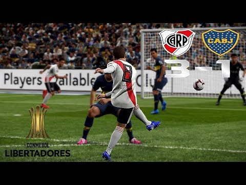 Recreación River Plate 3-1 Boca Juniors - Final Copa Libertadores 2018