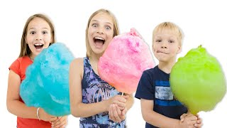 Cotton Candy Floss Fun With Amelia, Avelina And Akim.