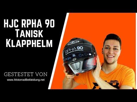 Gr/ö/ße XS HJC Motorradhelm RPHA 90 Tanisk MC6HSF Schwarz//Rot