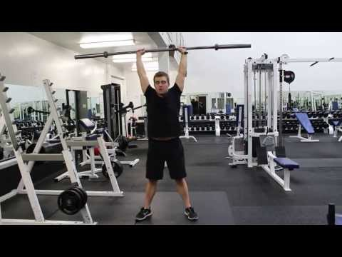 Front Squat to Overhead Press with Dumbbells