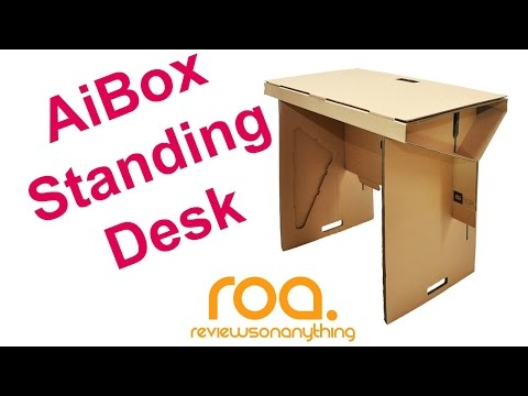AIBOX Cardboard Standing Desk review