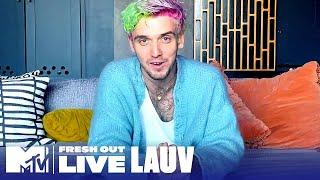 """Lauv Reveals the Story Behind """"Fake"""" w/ Conan Gray 
