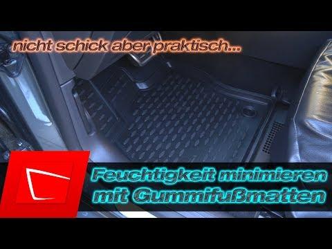 Gummifußmatte im Winter gegen beschlagene Scheiben - Feuchtigkeit im Auto minimieren AZUGA