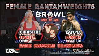 """Female Bare knuckle fight This is must see TV. Latoya """"Lionheart"""" Vs. Christina """"Knuckles"""" 👊🏾"""