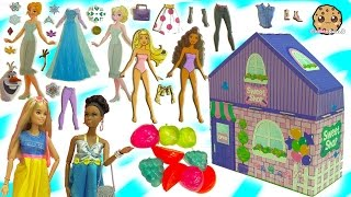 Shopkins, Barbie Clothing, Disney Frozen Sticker Dress Up Dolls + More - Dollar Tree Store Haul