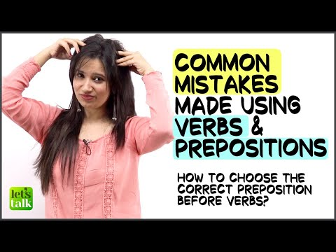 Common English Mistakes Made With Prepositions & Verbs | English Grammar Lesson | Error Detection
