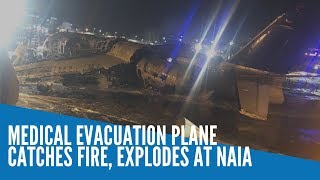 A Lion Air West Wind 24 aircraft exploded and caught fire at around 8:00 P.M. on a runway of the Ninoy Aquino International Airport (NAIA) on Sunday night.  READ: https://newsinfo.inquirer.net/1250622/plane-going-to-japan-bursts-into-flames-at-naia-runway