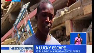A four-storey building collapsed today in Nairobi's Kariobangi south estate