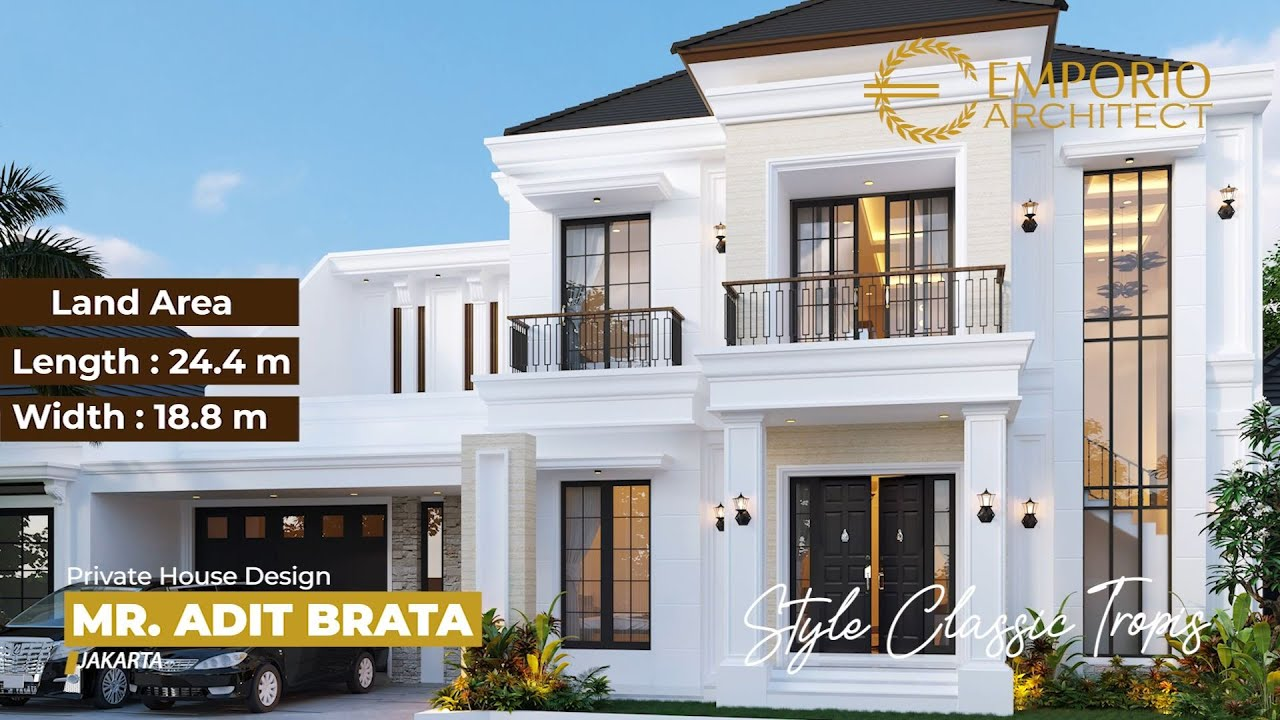 Video 3D Desain Rumah Classic 2 Lantai Bapak Adit Brata III di Jakarta