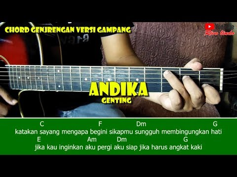 Andika Mahesa - Genting (TUTORIAL CHORD GITAR MUDAH)