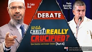 Debate Dr Zakir Naik v s Pastor Ruknuddin Pio Was Christpbuh Really Crucified QA