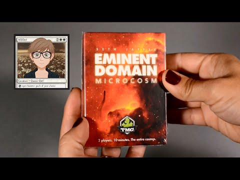 MTGirl: EMINENT DOMAIN MICROCOSM Unboxing, Rules, and Review + Promos