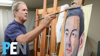 George W. Bush Seeks To Honor Wounded Warriors With His Paintings | PEN | TIME
