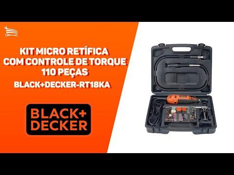 Kit Micro Retífica com Controle de Torque 180W  com 110 Peças - Video