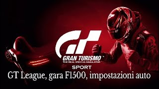 Gran Turismo Sport-GTLeague, Gare F1500, impostazioni auto e aiuti