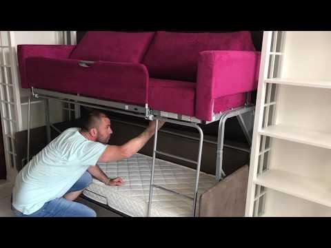 Canapea cu pat supraetajat