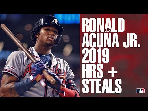 All of Ronald Acuña Jr.'s home runs and steals from 2019
