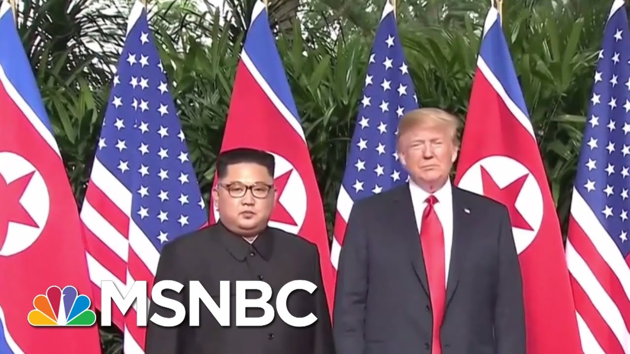 President Donald Trump On Meeting Kim Jong Un In Singapore: 'It's My Honor' | The 11th Hour | MSNBC thumbnail