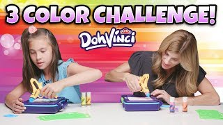 Play-Doh Dohvinci Three Color Challenge! Dohvinci On the Go Art Studio Fun!