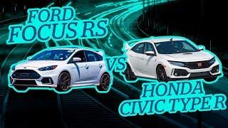 Ponemos a prueba un Ford Focus Rs vs Honda Civic Type R   Casi morimos por unas ovejas 