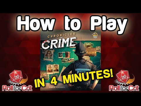 How to Play Chronicles of Crime   Roll For Crit
