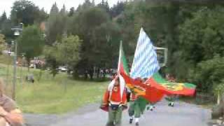 preview picture of video 'Pandurenfestzug in Spiegelau'