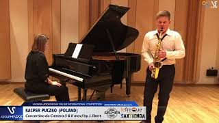 Kacper PUCZKO plays Concertino da Camera by J. Ibert #adolphesax