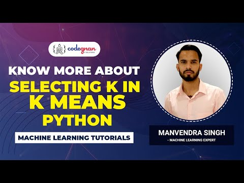 How to find K Means Clustering using Elbow Method in python| Machine Learning Tutorials | Codegnan
