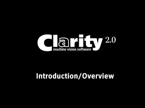 Einführung in die Clarity Bildverarbeitungssoftware