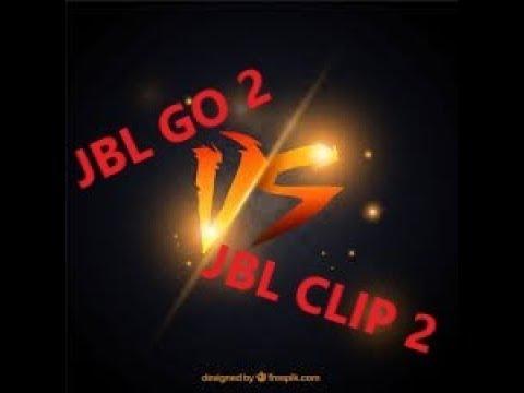 JBL GO 2 VS JBL CLIP 2 | Les Versus #1