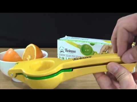 Exprimidor manual de naranja lima limón Twinzee