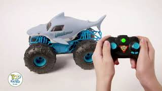 Smyths Toys Monster Jam Official Megalodon STORM All-Terrain Remote Control Monster Truck Advert