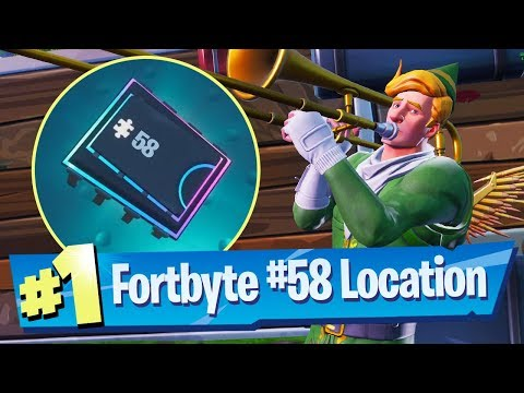 Fortnite Fortbyte #58 Location - Accessible By Using The Sad Trombone Emote north end Snobby Shores